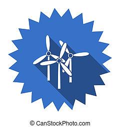windmill blue flat icon