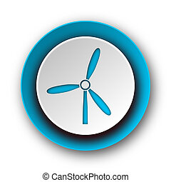 windmill blue modern web icon on white background