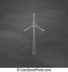 Windmill computer symbol