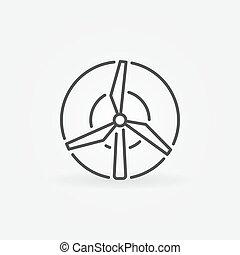 Windmill concept icon