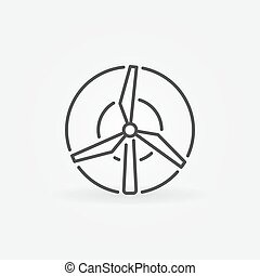 Windmill concept icon