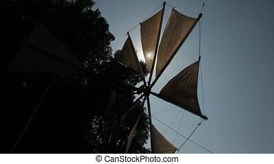 Windmill, Crete, Greece - typical windmill (Tourist Feature)...