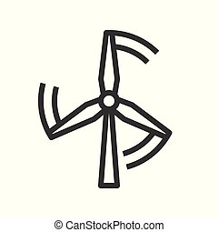 Windmill energy vector icon clean energy concept
