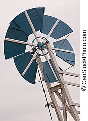 Detail of the fantail on an old windmill