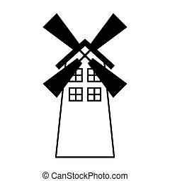 windmill farm isolated icon