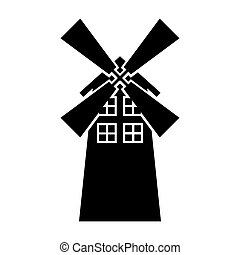 windmill farm isolated icon