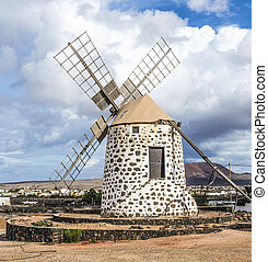Windmill, Fuerteventura, Canary Islands, Spain