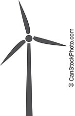 Windmill icon in black on a white background. Vector illustration