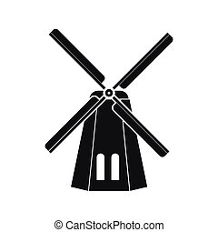 Windmill icon in simple style