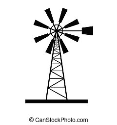 windmill icon vector art illustration on white
