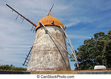 Windmill in azores