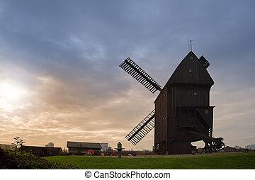 Windmill in Berlin, Germany