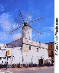 Windmill in Ciutadella on Minorca