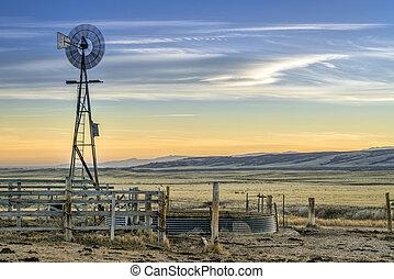 windmill in Colorado prairie