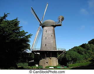 Windmill in Golden Gate Park, San Francisco - California