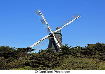 Windmill in Golden Gate Park. San Francisco