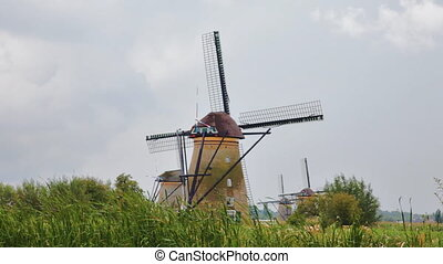 Windmill in Kinderdijk, Holland