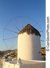Windmill in Mykonos - Greek Island
