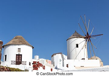 Windmill in Oia, Santorini