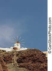 Windmill in Oia Santorini