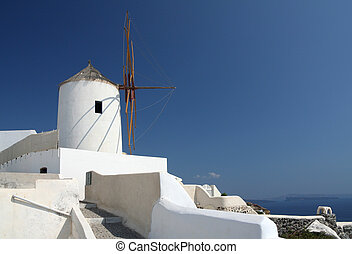 Windmill in Oia (Santorini)