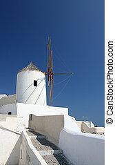 Windmill in Oia (Santorini)