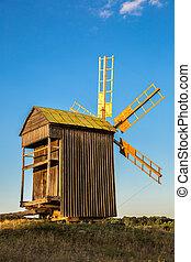 Windmill  in Pirogovo museum, Kiev, Ukraine