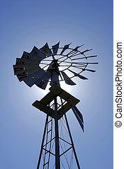 windmill in silhuoette