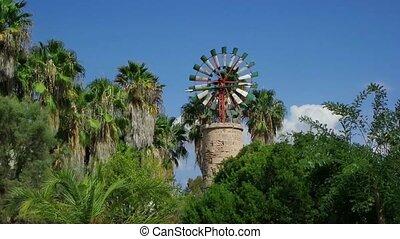 Windmill in the Balearic Islands. Majorca.