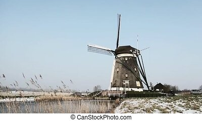 "Windmill in winterland. - The ""Three Mills"" were built in..."