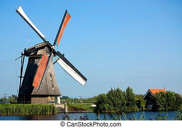 windmill landscape - beautiful windmill landscape at...