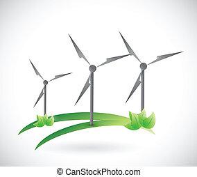 windmill nature concept
