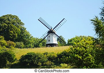 Windmill near Turville. - Cobstone Mill at Ibstone seen from...