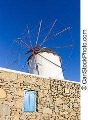 windmill of Mykonos Island, Greece