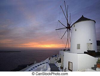 windmill Oia Santorini