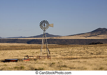 Windmill - Old fashioned windmill on a ranch in New Mexico...