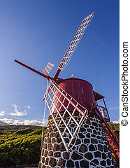 Windmill on Pico Island, Azores - Traditional Windmill in ...