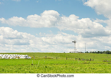 Windmill on the Rolling Hills