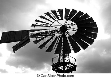 windmill - This windmill stands in a nature reserve in...