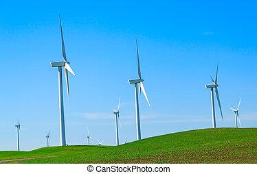 Windmill power generator. - Shiloh Wind Power Plant is a...