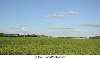windmill renewable energy - White windmill for renewable...