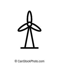 windmill  thin line icon