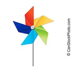 Windmill Toy Vector Illustration