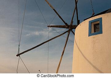 Windmill under sail in Portugal