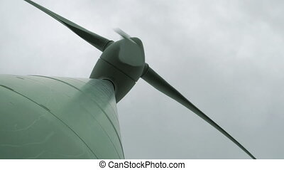 Windmill Underneath Low Angle Perspective - Low angle...