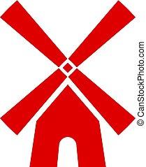 Windmill vector icon