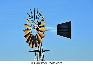 Windmill water pump on farm westerncape south africa