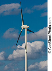 Windmill with bright blue sky (3)
