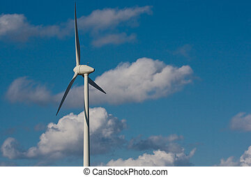 Windmill with bright blue sky (4)