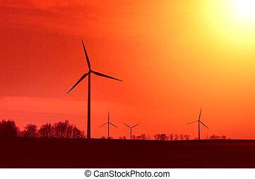 windmills.